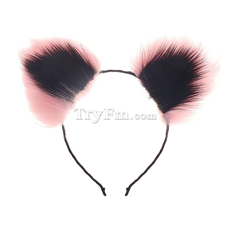 2-pink-black-furry-hair-sticks-headdress3.jpg