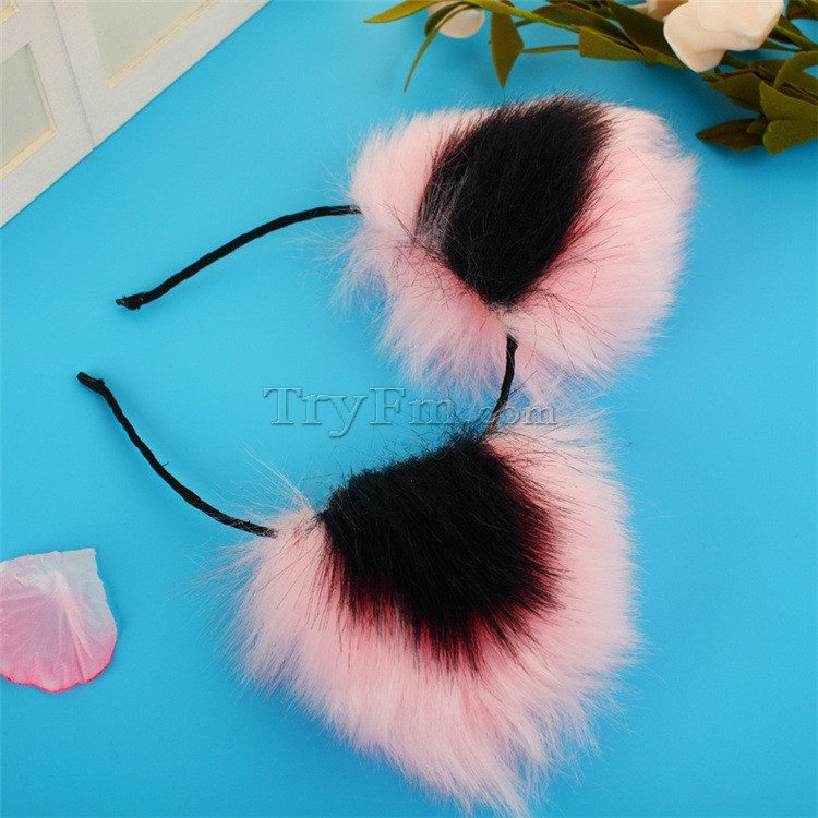2-pink-black-furry-hair-sticks-headdress4.jpg